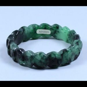 Jewelry - Beautiful 59mm Chinese Hand-carved Green Black